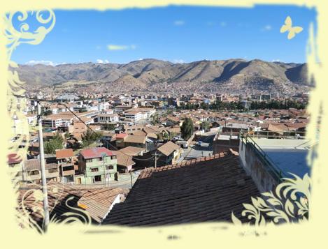 Cusco vom Haus Yanapanacusun aus